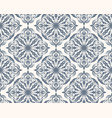 grey and white seamless pattern with floral and vector image vector image