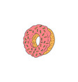 hand drawn tasty donut icon or symbol sketch vector image