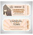 happy brazilian carnival day carnival circus vector image vector image
