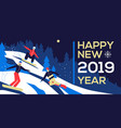 happy new year 2019 - flat design style vector image