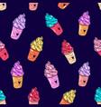 ice cream pattern 5 dark vector image vector image