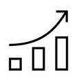 icon upward arrow with bar chart shape