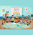 kindergarten poster vector image vector image
