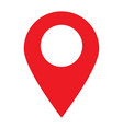location pin icon on white background location vector image vector image