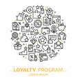 loyalty program background vector image vector image