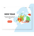 new year website landing page design vector image vector image