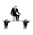 office clerk carrying boss corporate ethics vector image vector image