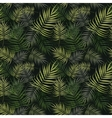 palm leaves pattern vector image vector image