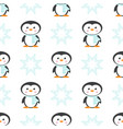 pattern with christmas penguin in scarf vector image vector image