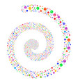pharmacy tablet fireworks spiral vector image vector image