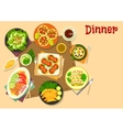 Popular appetizers icon for healthy food design vector image vector image