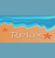 poster banner for advertising beach holiday on vector image