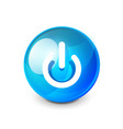 power button blue icon start symbol vector image vector image