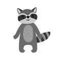 raccoon cute cartoon animal vector image