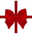red gift bow of ribbon isolated vector image vector image