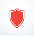 red grunge shield icon vector image