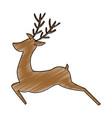 reindeer animal isolated icon vector image vector image