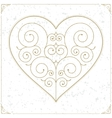 Retro heart luxury logo sign or symbol vector image