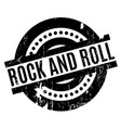rock and roll rubber stamp vector image vector image