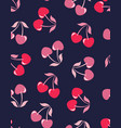 seamless pattern cherries vector image vector image