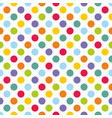seamless pattern with colorful polka dots on white vector image