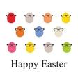 Set o Easter vintage eggs vector image vector image
