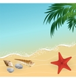 summer beach vacation concept background vector image