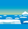the nature of the north pole vector image