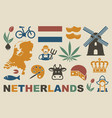 traditional symbols netherlands vector image vector image