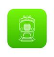 train icon green vector image vector image