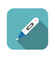 digital thermometer icon with long shadow vector image