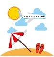 beach landscape vacations icons vector image