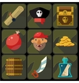 Color Flat Icons Set and vector image