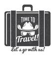 time to travel grunge logo design vector image