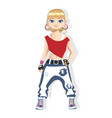 street dancer girl in bright clothes vector image
