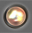 realistic bulb light vector image