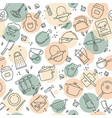 an original seamless pattern on the kitchen theme vector image vector image