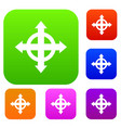 arrows target set collection vector image vector image