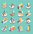 automated production line flat isometric vector image