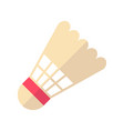 badminton flat icon vector image