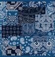 bandana kerchief fabric patchwork vector image
