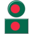 Bangladeshi round and square icon flag vector image