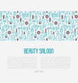 beauty saloon concept with thin line icons vector image vector image