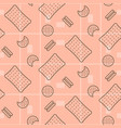 biscuit pink seamless pattern vector image vector image