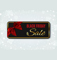 black friday sale banner on winter background vector image