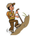 boy hiking vector image