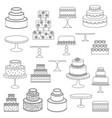 cake digital stamps vector image vector image