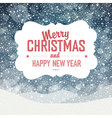 Christmas card design falling snow vector image