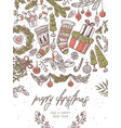 christmas festive greeting card vector image vector image