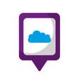 cloud social media square pointer web vector image vector image